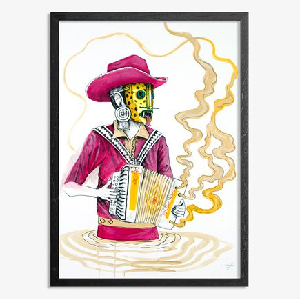 Saner Hand-painted Multiple - El Norteno Playing The Accordion - Hand Painted Multiple 08