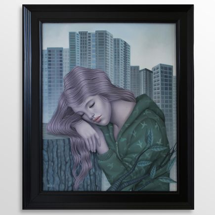 Sarah Joncas Original Art - Concrete Wilderness - Original Artwork