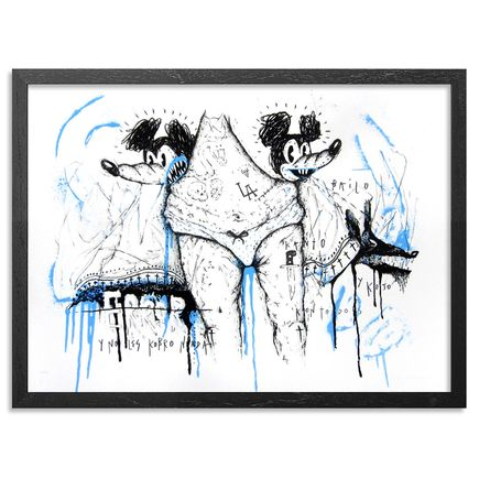 Satterugly Art Print - Kuando El Kuerpo Habla - Blue