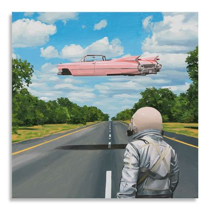 Scott Listfield Original Art - Pink Cadillac - Original Artwork