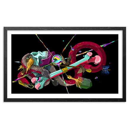 Seher Art Print - Eterna Dualidad (Low Flying Hawks)