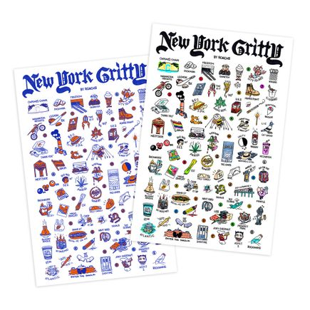 Roachi Art Print - 2-Print Set - New York Gritty