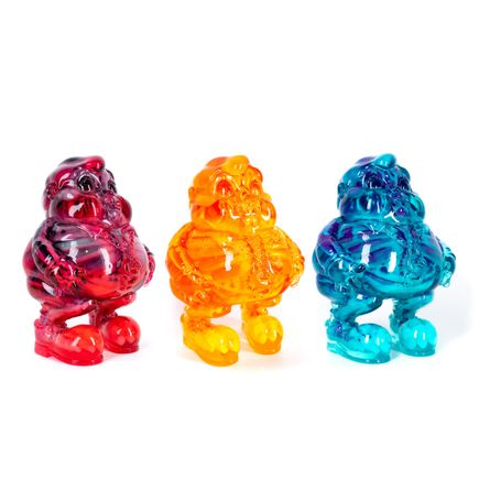 Ron English Art - 3-Sculpture Set - Amber + Marigold + Turquoise MC