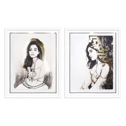 Brandon Boyd Art Print - 2-Print Set - Nicole In Gold + Nicole In Profile - Foil Editions