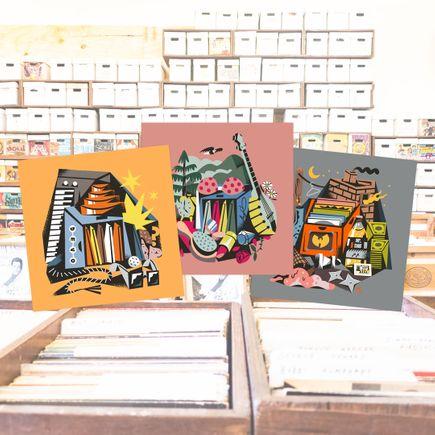 Jesse Kassel Art Print - 3-Print Set - Devo + Dolly + Wu-Tang Collection