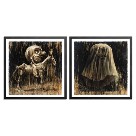 John Dunivant Art Print - 2-Print Set - Pale Mount + With Ghosts