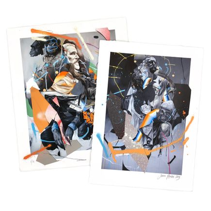 Joram Roukes Art Print - 2-Print Set - Brown Duffle Bag + Stone Roses