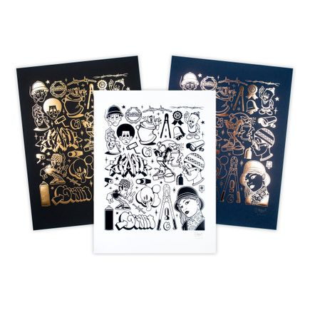Mike Giant Art Print - 3-Print Set - Modern Hieroglyphics - Graffiti
