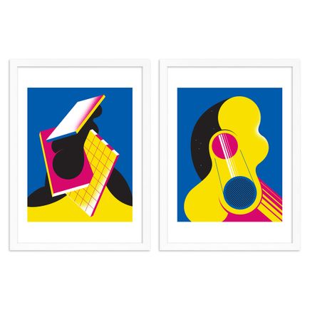 Moritz Green Art Print - 2-Print Set - One In Darkness + One In Light