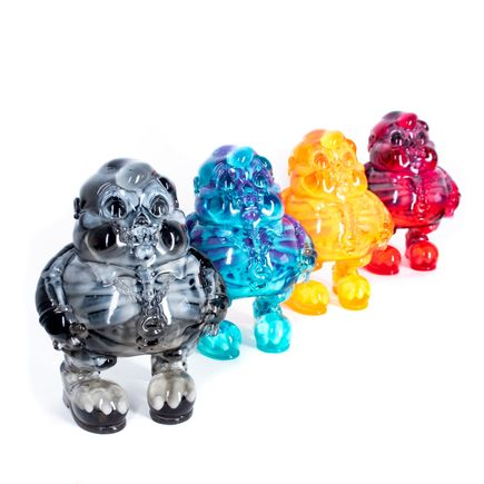 Ron English Art - 4-Sculpture Set - Amber + Marigold + Turquoise + Smoke MC