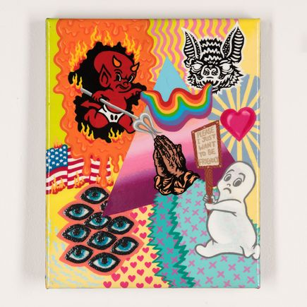 Shaina Kasztelan Original Art - We Sold Our Souls to the Devil a Long Time Ago