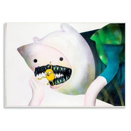 Shark Toof Original Art - Ceci N'est Pas Une Finn & Jake  - Original Painting