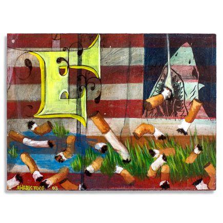 Shark Toof Original Art - American Flag - Original Painting