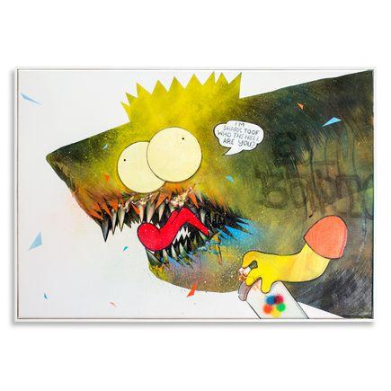 Shark Toof Original Art - Ceci N'est Pas Une Bart Simpson - Original Painting