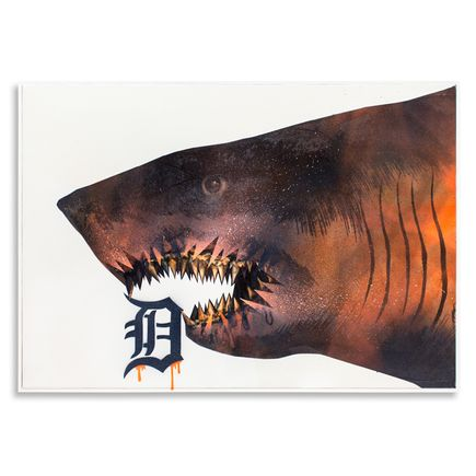 Shark Toof Original Art - Ceci N'est Pas Une Detroit Tiger  - Original Painting