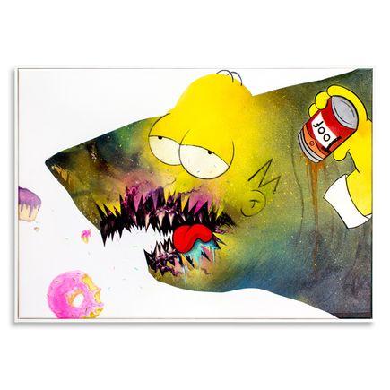 Shark Toof Original Art - Ceci N'est Pas Une Homer Simpson - Original Painting