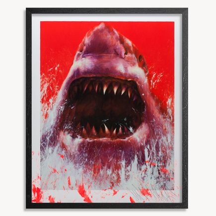 Shark Toof Art Print - Nature Is Your Home - Hand-Embellished Edition