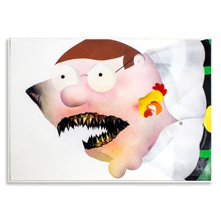 Shark Toof Original Art - Ceci N'est Pas Une Peter Griffin - Original Painting