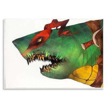 Shark Toof Original Art - Ceci N'est Pas Une Raphael - Original Painting