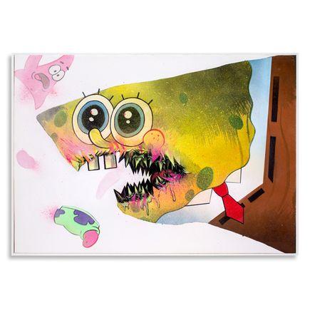 Shark Toof Original Art - Ceci N'est Pas Une Spongebob  - Original Painting