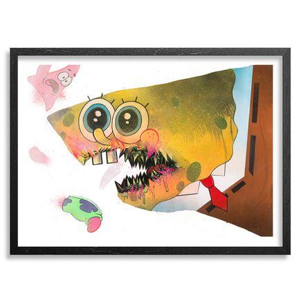 Shark Toof Art Print - Ceci N'est Pas Une Spongebob