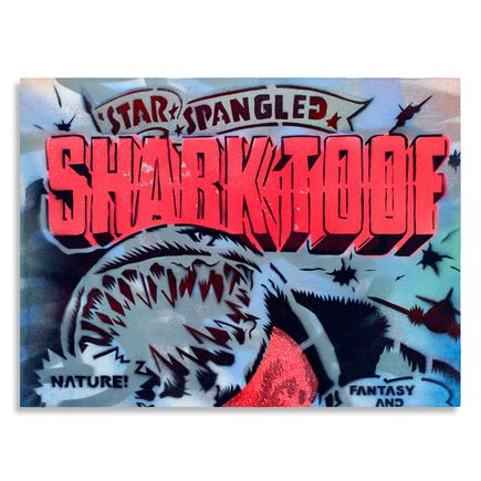 Shark Toof Original Art - Star Spangled Fantasy 1 - Original Painting