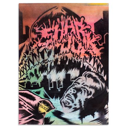 Shark Toof Original Art - Troubled Waters 2 - Original Painting