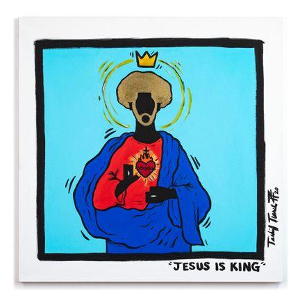 Sheefy Original Art - Jesus Is King - 30 x 30 Inches - Original Artwork