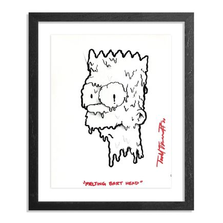 Sheefy Original Art - Melting Bart Head - Original Artwork