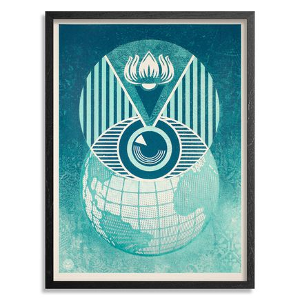 Shepard Fairey Art Print - Flint Eye Alert Globe
