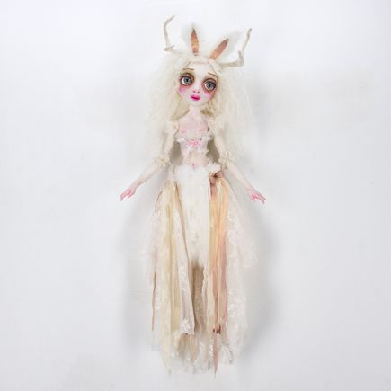 Sheri DeBow Original Art - Jaquelin Jackelope, Bride Of The Forest