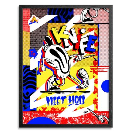 Sheryo & The Yok Art Print - Knife To Meet You