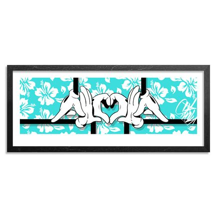 Slick Art Print - Hand-Embellished Blue Edition - Big Slick Aloha