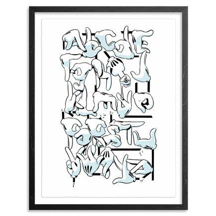 Slick Art - OG Slick Hand Alphabet - Standard Editon Framed