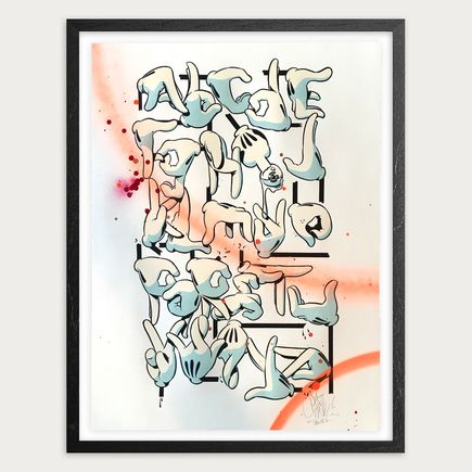 Slick Art - Hand Alphabet - Hand-Embelished Editon - Framed