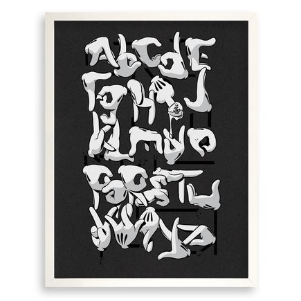 Slick Art - OG Slick Hand Alphabet - Black Edition - Standard