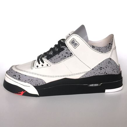 Smoluk Original Art - Jordan III - From The Box White - Original Artwork