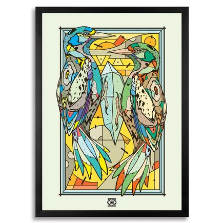 Sobekcis Art - Crystalpecker - Framed