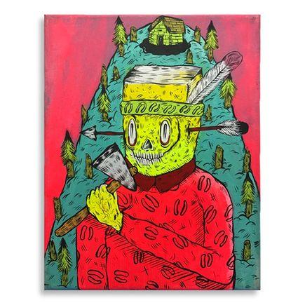 Spencer Keeton Cunningham Original Art - Tomahawk Flathead