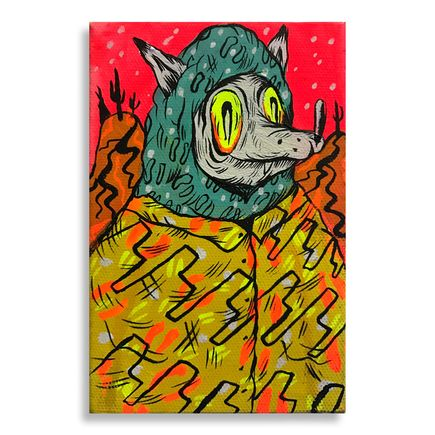 Spencer Keeton Cunningham Original Art - Yellow Eyed Wolf