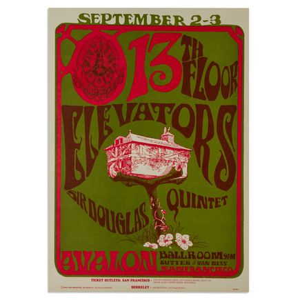 Mouse! Studios Art - 13th Floor Elevators, Sir Douglas Quintet
