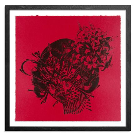Stinkfish Art Print - The Flower Girl 1949 - Red Edition