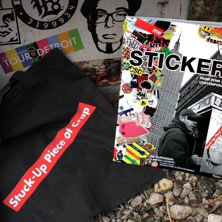 DB Burkeman Art - STUCK UP - Signed Book Combo