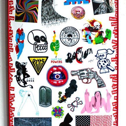 DB Burkeman Art - STUCK-UP Kiss-Cut Sticker/Print
