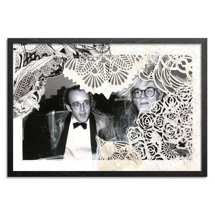 Swoon Art Print - Keith Haring and His Idol Andy Warhol. NYC. 1986