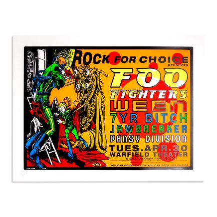 Jim Evans / Taz Art - Rock For Choice - Foo Fighters April 30th 1996 at Warfield Theatre