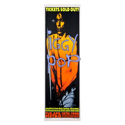 Kozik Art - Iggy Pop - April 16, 1996 at The Metro