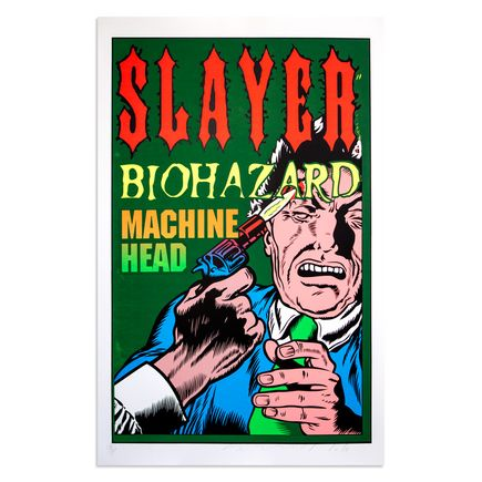 Jim Evans / Taz Art - Slayer, Biohazard, Machine Head 1995