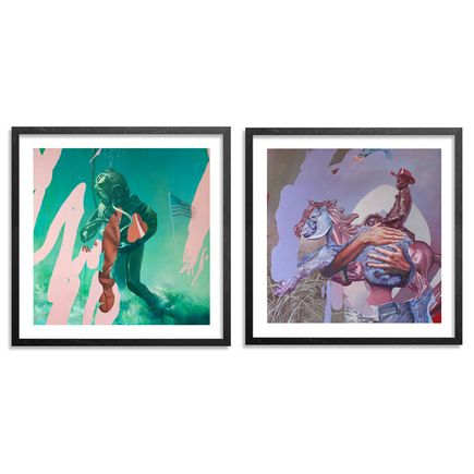 Telmo Miel Art - 2-Print Set - Aspirations + The Sea Refuses No River