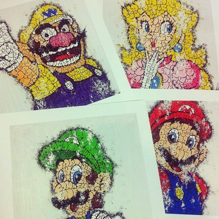 Tilt Art Print - Super Mario Bros. Full Set